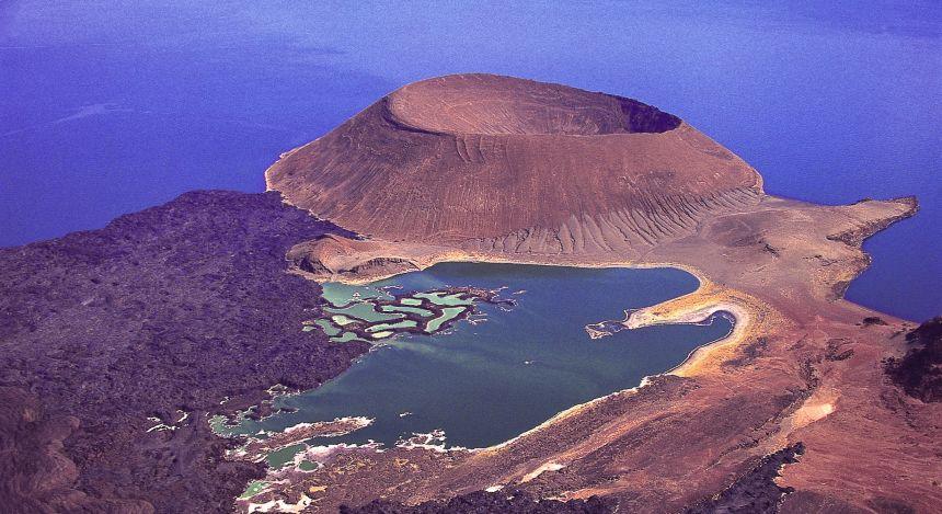 Vogelperspektive von Lake Turkana, Kenia