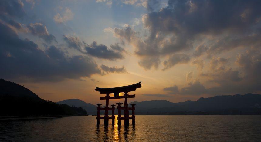 Sonnenuntergang in Hiroshima