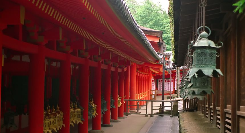 Traditionelle Architektur in Nara, Japan