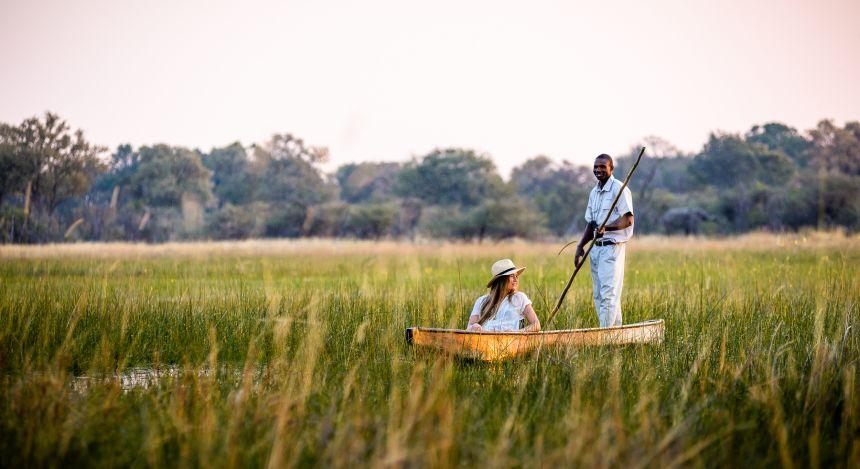 Okavango Delta bei bestem Wetter