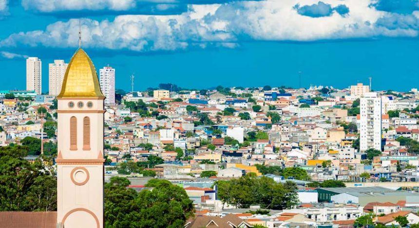 Blick über die brasilianische Stadt Sao Paulo
