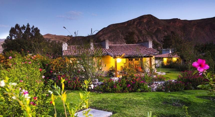 Ein Chalet im Garten von Sol y Luna im peruanischen Sacred Valley