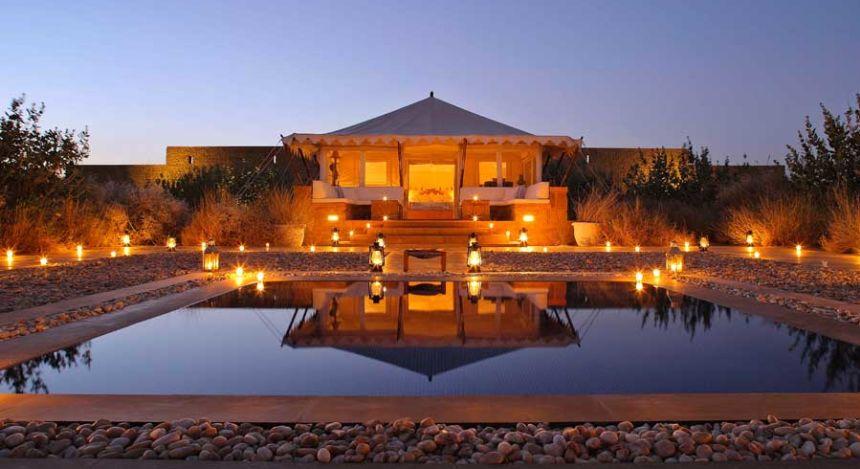 Die Royal Tented Suite mit eigenem Pool