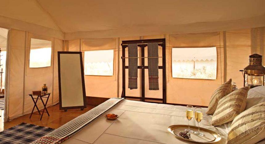 Schalfzimmer im Wüstenzelt