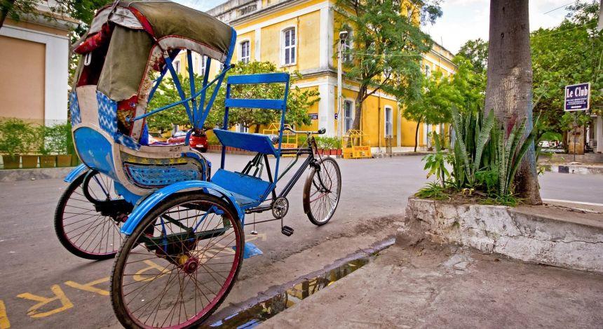 Altmodisches Fahrrad-Rikscha