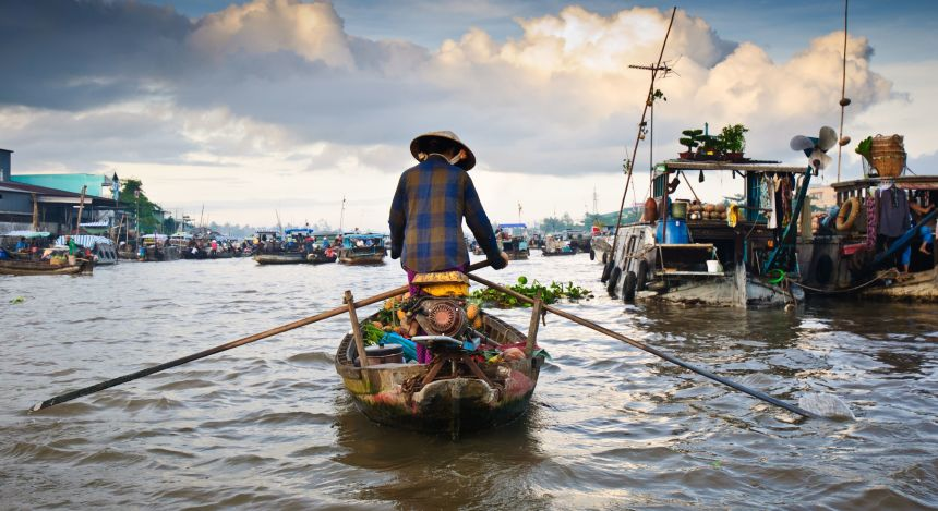 Halong Bay or Mekong Delta: Vending on the Delta