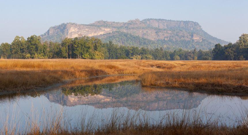 Blick auf den Bandhavgarh-Berg