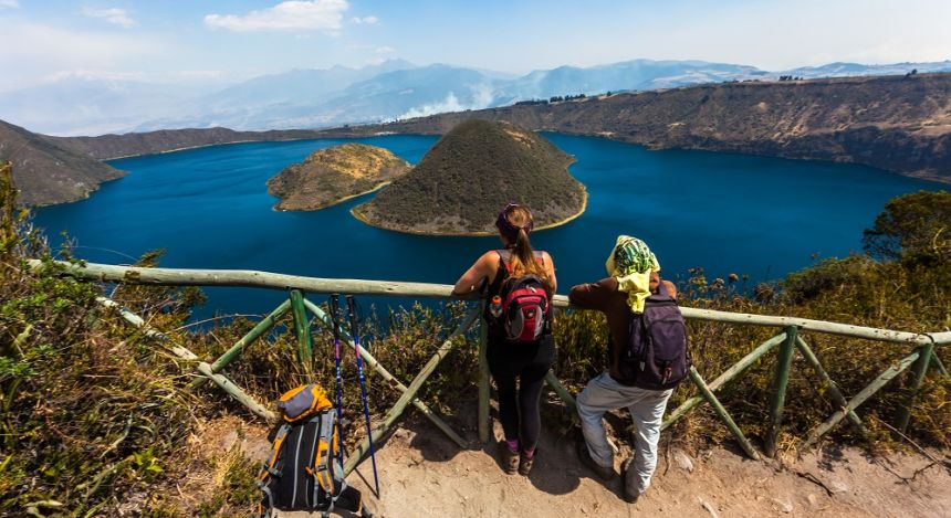 View of the Cuicocha Lake