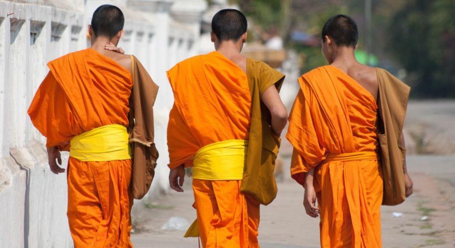 Buddhistische Mönche in Luang Prabang