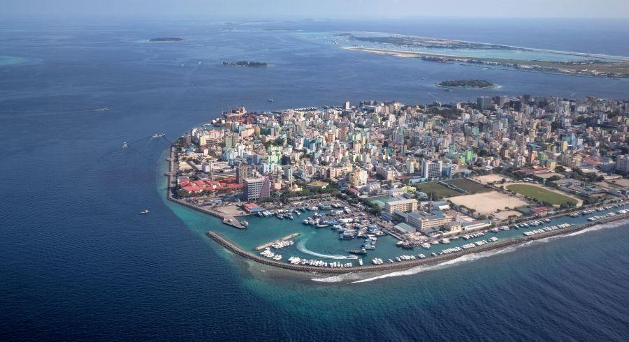 Luftaufnahme von Male, Malediven