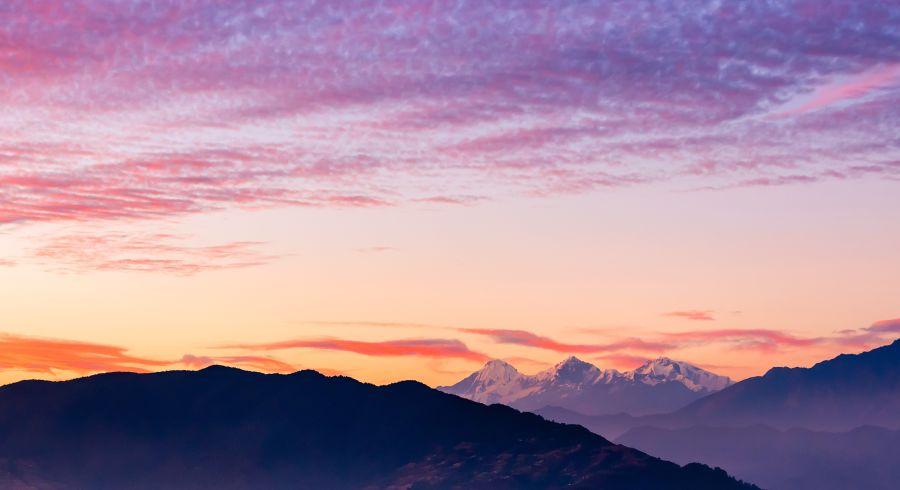 Beste Reisezeit Nepal - Sonnenuntergang