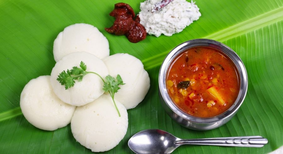A typical South Indian breakfast: north or south india?