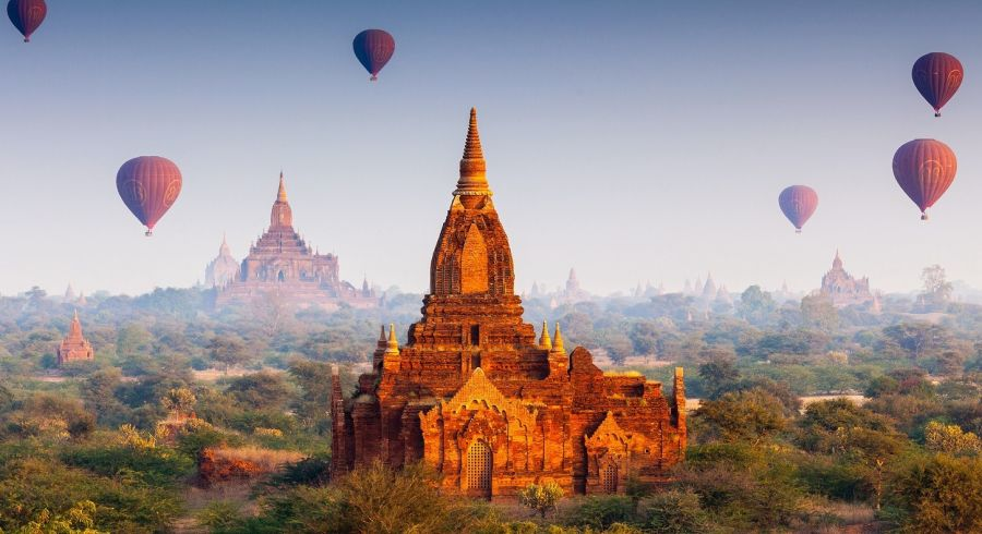 Southeast Asia Eine Bagan Ballonfahrt ist das Highlight Ihrer Myanmar Luxusreise