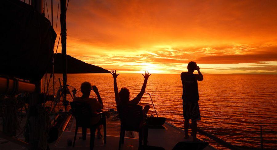 Sonnenuntergang auf Helen Reef
