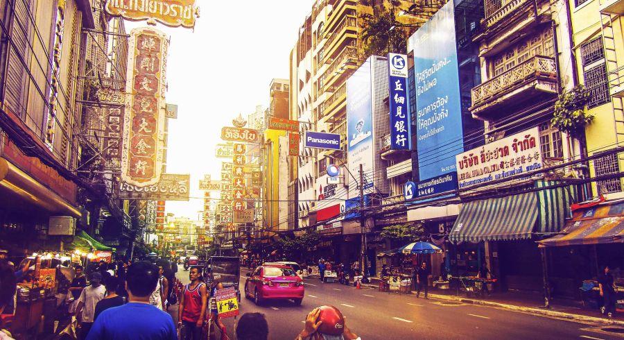 Straße in Bangkok