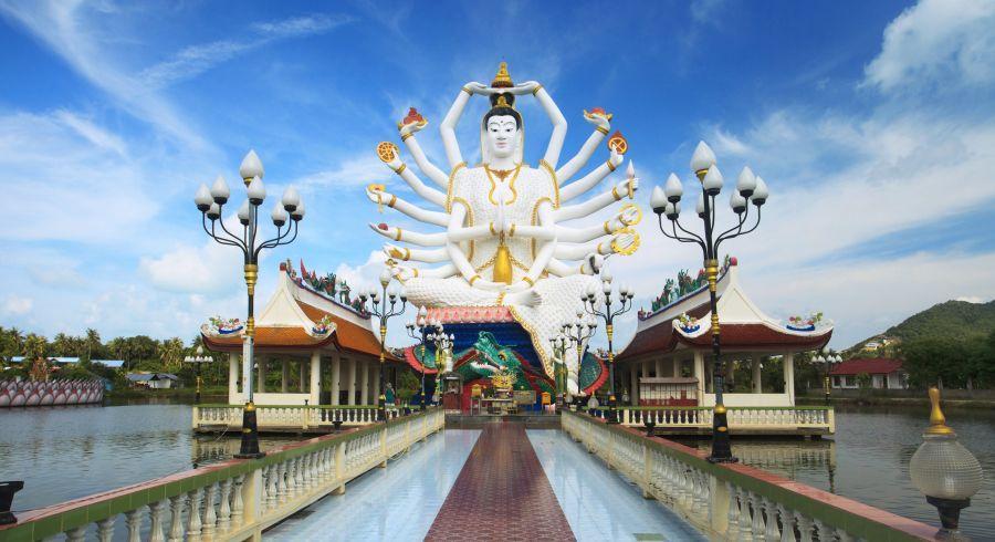 Tempelanlage Wat Plai Laem auf Koh Samui