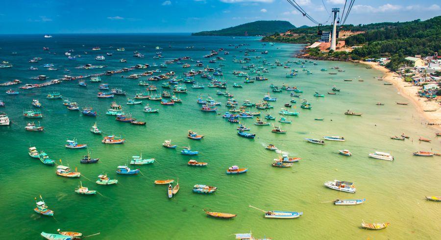 The Longest Cable Car Phu Quoc Island Vietnam Asia