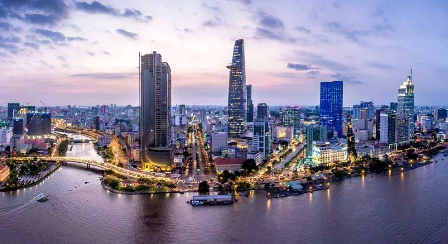 Aerial view of Ho Chi Minh City, Vietnam's capital