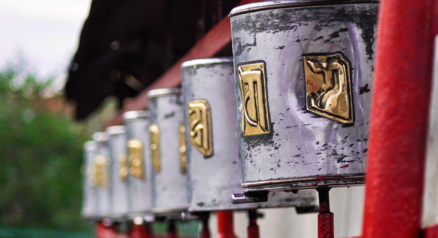 Religiöse Symbole in Tibet