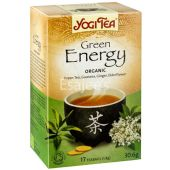 Yogi Tea Green Energy Organic Green Tea Guarana Ginger Elderflower