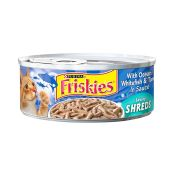 Friskies Cat Food With Ocean Whitefish & Tuna In Sauce Savory Shreds