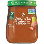 Beech Nut   Babyfood 2stage Guava Pear Strawberry 120g