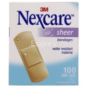 Nexcare Sheer Bandages Water Resistant
