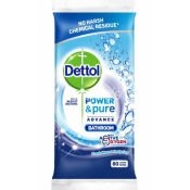 Dettol Power & Pure Advance Bathroom Cleaning Wipes