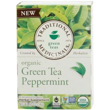 Traditional Medicinals Organic Peppermint Green Tea