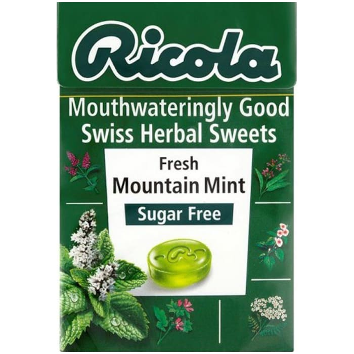 Ricola Swiss Herbal Sweets Fresh Mountain Mint Sugar Free Candy