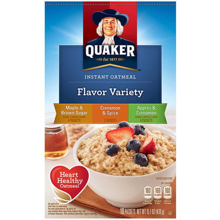 Quaker Instant Oatmeal Flavor Cereal