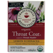 Traditional Medicinals Organic Throat Coat Lemon Echinacea Tea Bags