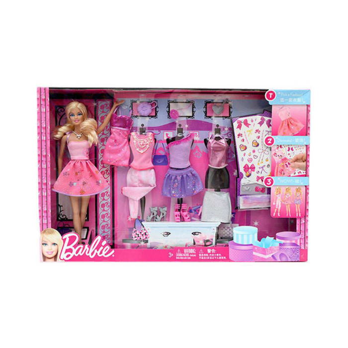 Barbie Mettle Fasion Giftset Asia Y7503