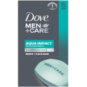 Dove Men Care Body Face Bars 6 Count 678g