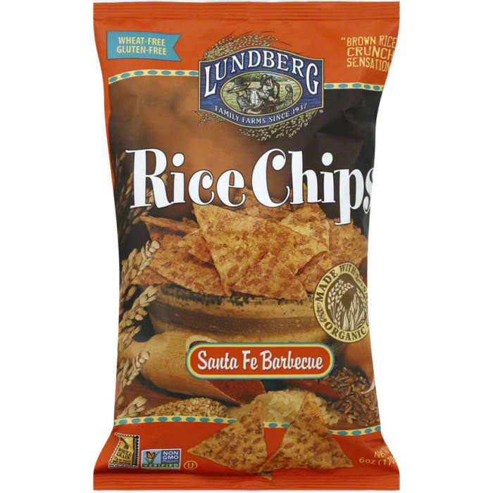 Lundberg Organic Santa Fe Barbeque  Rice Chips