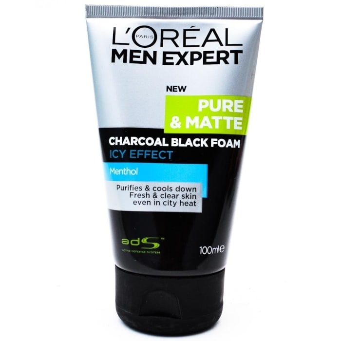 Loreal  Expert Charcoal Black Foam Icy Effect Cleanser