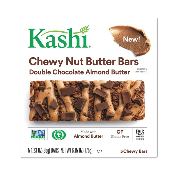 Kashi Chewy Nut Butter Bars Double Chocolate Almond Butter 180g
