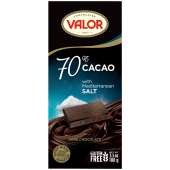 Valor 70% Cacao with Mediterranean Salt Dark Chocolate 100 Grams