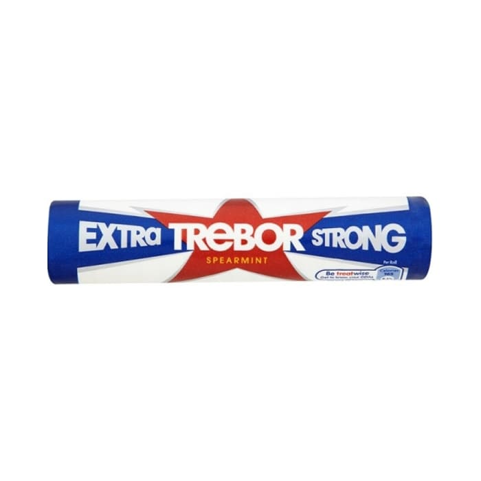 Trebor Extra Strong Spearmint Roll Bubble Gum