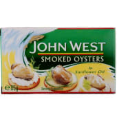 John West  Meat Smoked Oysters In Sunflower Oil