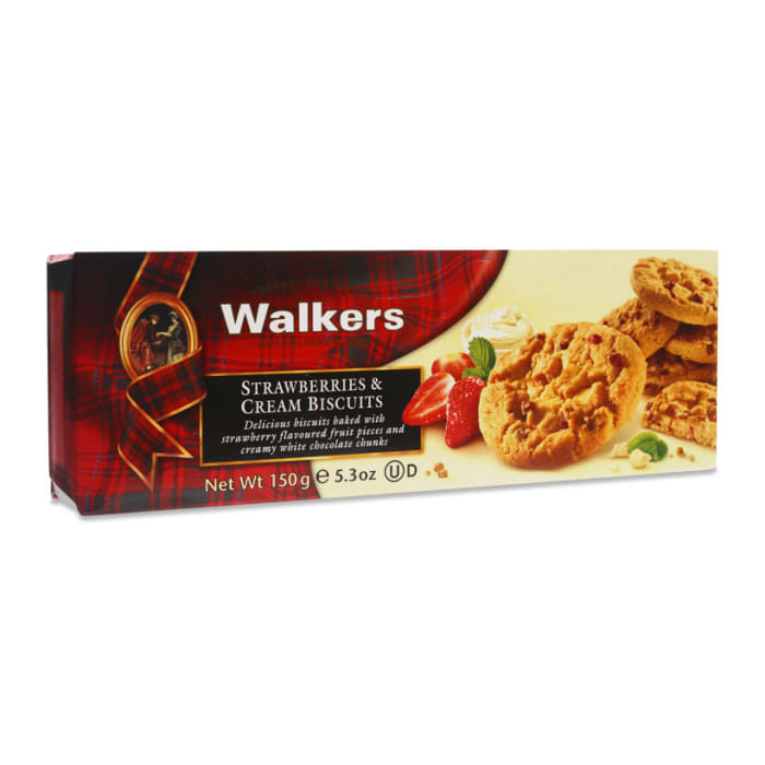 Walkers Strawberries & Cream Biscuits