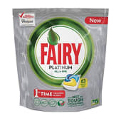 Fairy Platinum All In One Dishwasher Tabs Lemon 63/ct