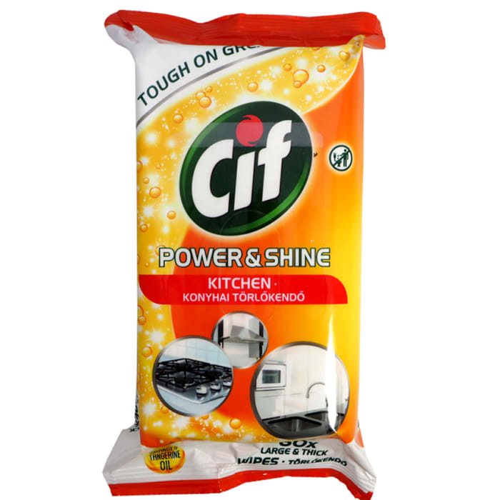 CIF Power & Shine For Kitchen Wipes