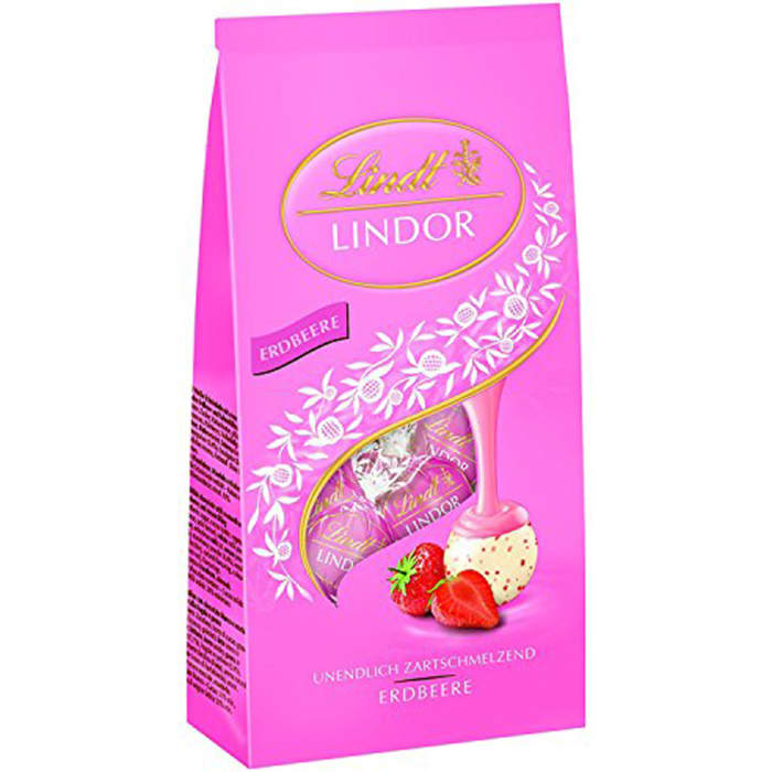 Lindt Lindoor Ball Strawberry Cream Chocolate