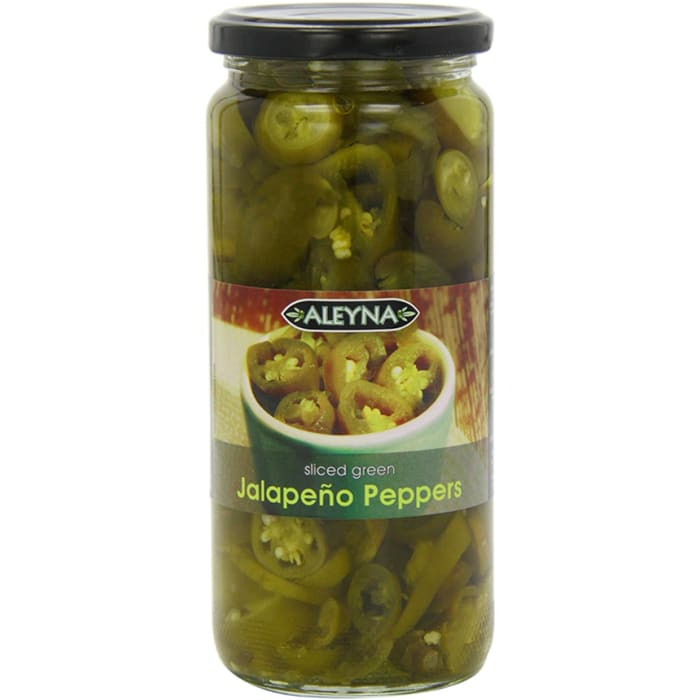 Aleyna Sliced Jalapeno Peppers Green 480g
