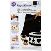 Wilton Sugar Sheets Edible Decorating Paper Black