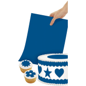 Wilton Sugar Sheets Edible Decorating Paper Bright Blue