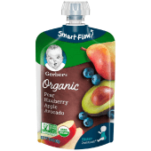 Gerber Organic Baby Food Pouch Pear Blueberry Apples & Avocado 120g
