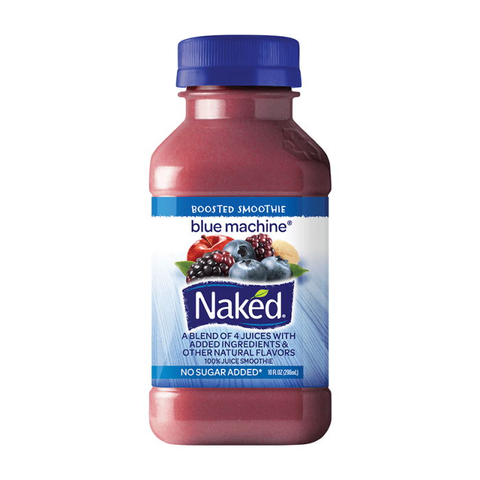 Naked Pure Fruit Juice Blue Machine 296ml