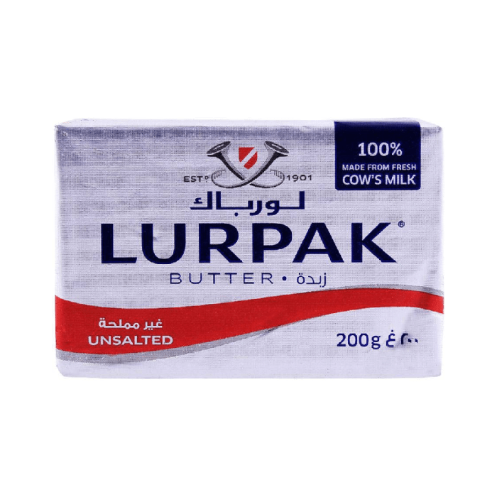 Lurpak Butter Unsalted - 100% Made from Fresh Cow's Milk 200 Grams